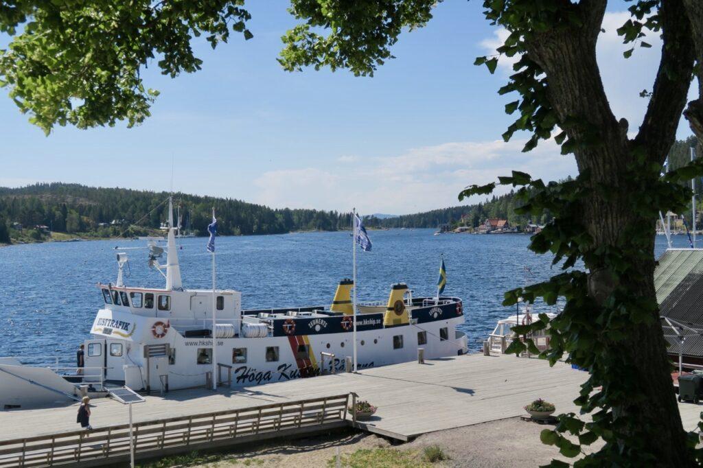 Höga kusten. Här i Ulvöhamn, på norra Ulvön, lägger turistbåtarna till.
