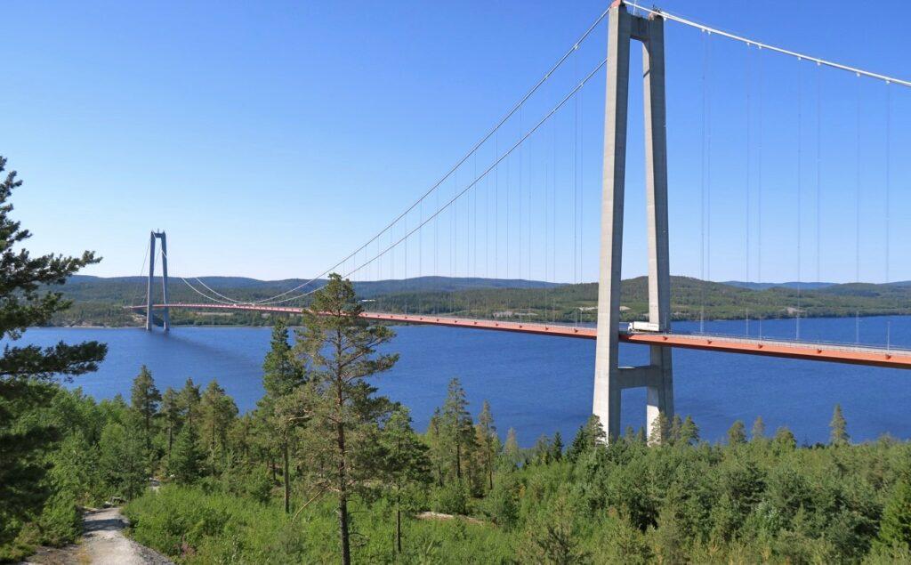 Högakustenbron. På väg igen mot Höga kusten och Örnsköldsvik.