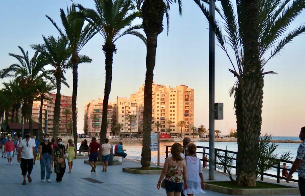 En av stränderna i Torrevieja; Playa del Cura.