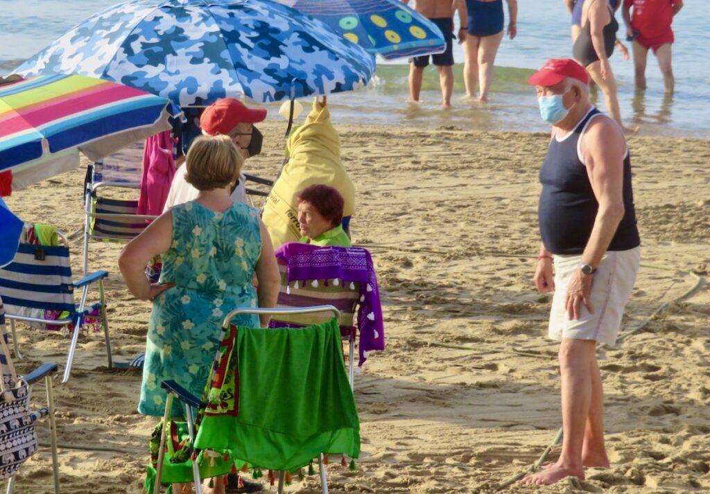 Torrevieja. Playa del Cura. Inrutat är det på stranden men diskussioner om gränsdragningar kan ändå uppstå.