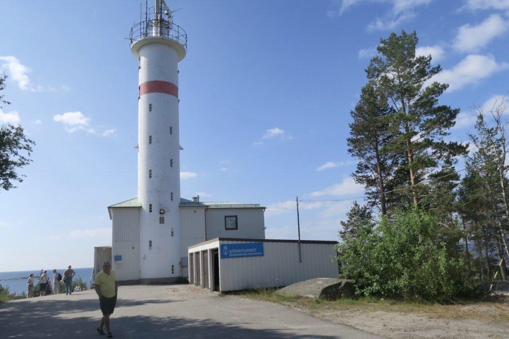 Höga kusten. Skagsudde med den 26 meter höga Skags fyr.