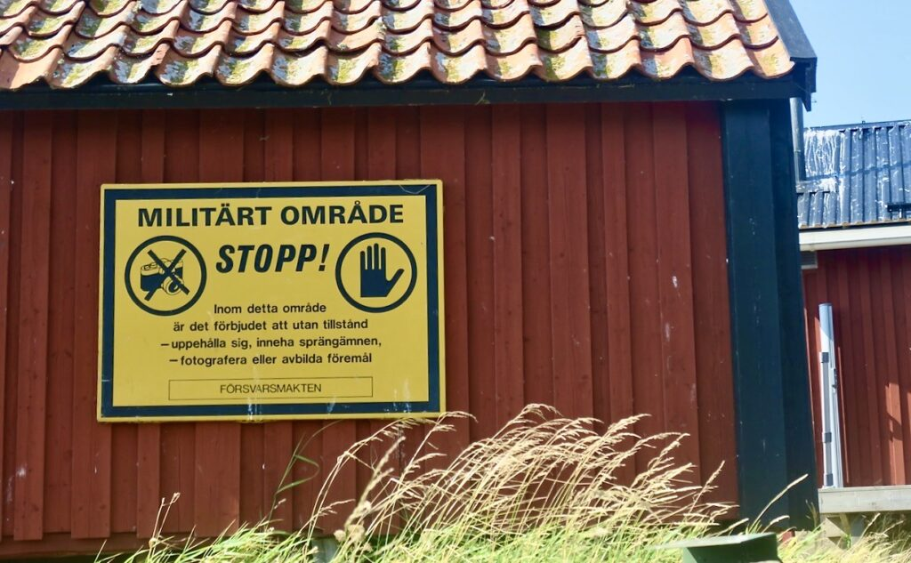 Här ute i havsbandet vid Söderarm, Ålands hav, hade militären kvar sin verksamhet till 2004.