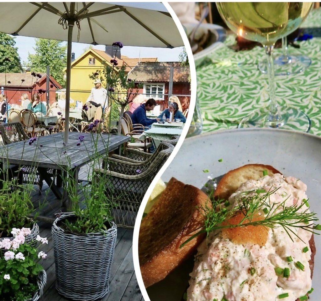 Vaxholm. Bistro Magasinet lunchar vi gärna på. Gott och prisvärt i trevlig miljö och med bra service.