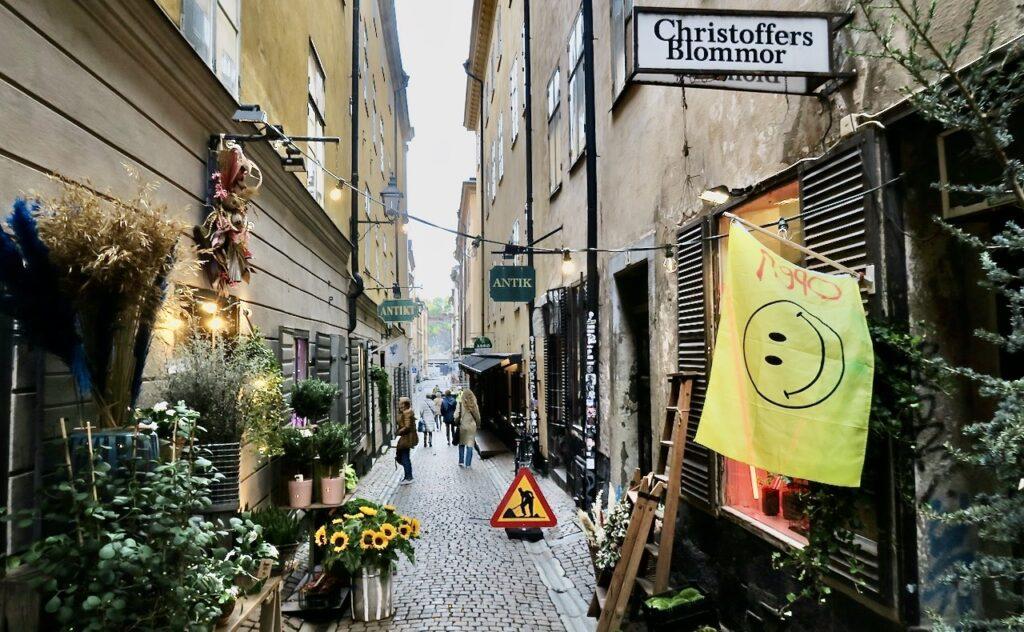 En av veckans höjdpunkter var besöket i Gamla stan hos Christoffers blommor.