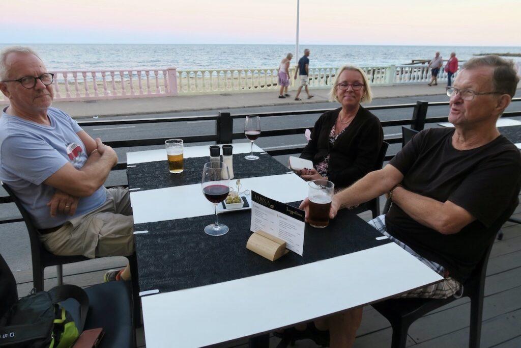 Torrevieja.Spanien. Restaurang La Boca. En skön kväll och med havet som närmaste granne.