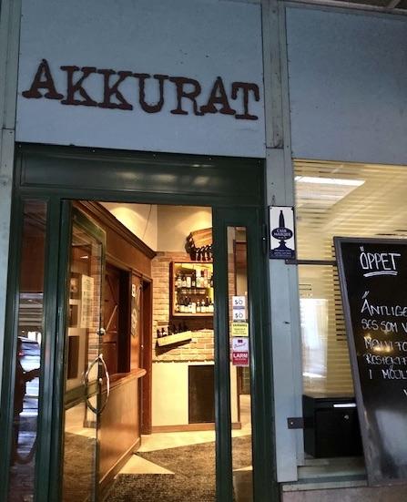 Stockholm. Södermalm. Restaung Akkurat hamnar helt klart på listan över veckans höjdpunkter.